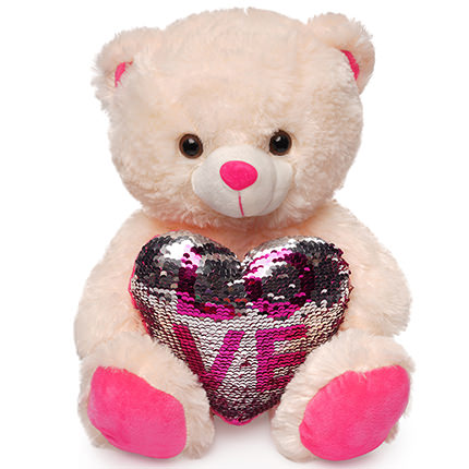Bear (heart in sequins)  - buy in Ukraine
