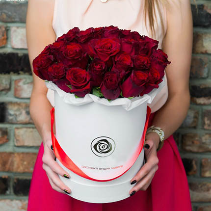 """Цветы в коробке """"Love U!""""  - купить в Украине"""