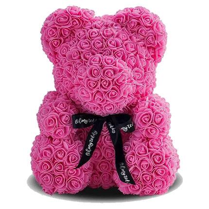 Мишка из роз (розовый)  - купить в Украине