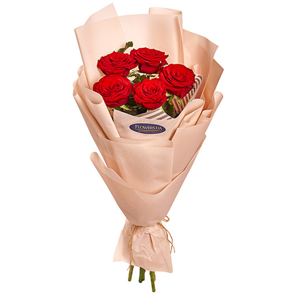 """Bouquet """"5 red roses""""  - buy in Ukraine"""