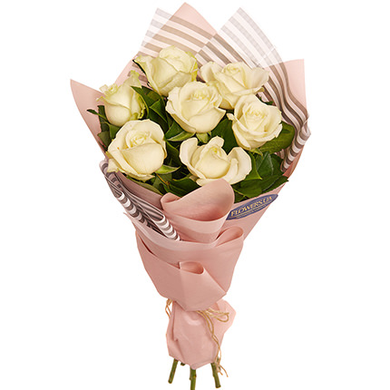 "Bouquet ""7 white roses!""  - buy in Ukraine"