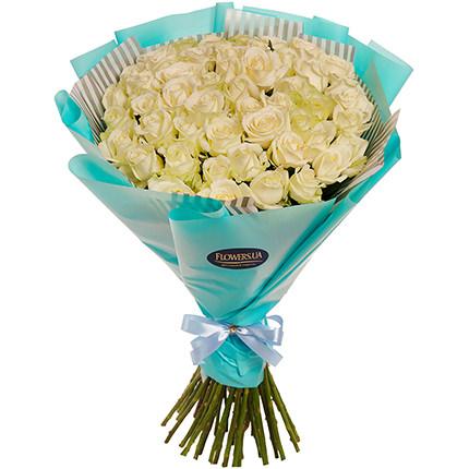 """Букет """"51 біла троянда""""  - придбати в Україні"""