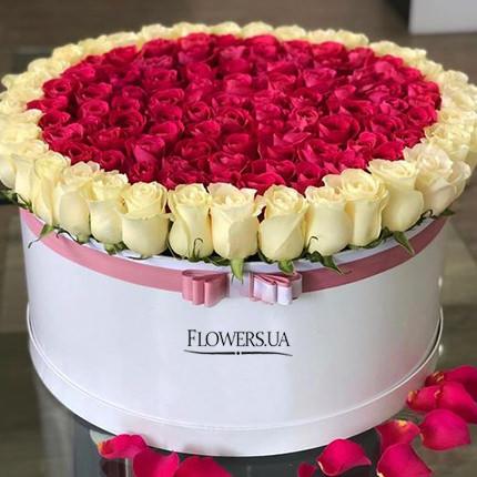"""Цветы в коробке """"Нежная принцесса""""  - купить в Украине"""