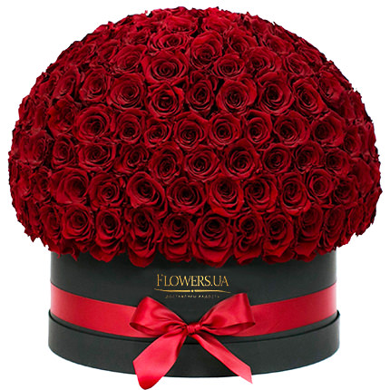 "Flowers in a black box ""151 red roses""  - buy in Ukraine"
