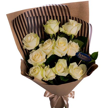 """Букет """"11 белых роз!""""  - купить в Украине"""