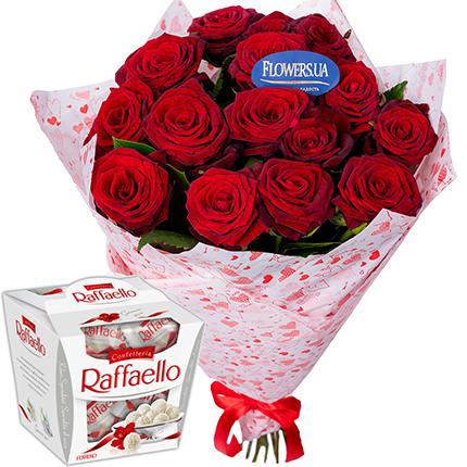 """Bouquet from St. Valentine! + """"Raffaello""""  - buy in Ukraine"""