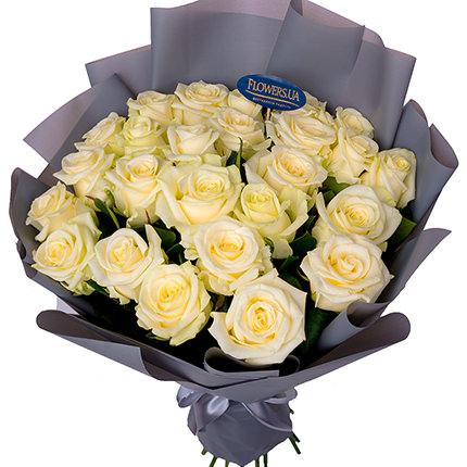 """Букет """"25 білих троянд""""  - придбати в Україні"""