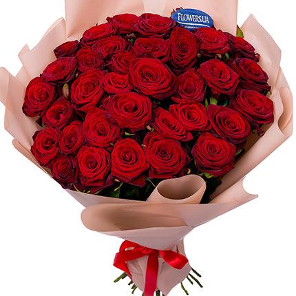 Букет з 35 червоних троянд  - придбати в Україні