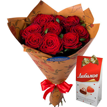 """Bouquet """"By February 14 for the beloved""""  - buy in Ukraine"""