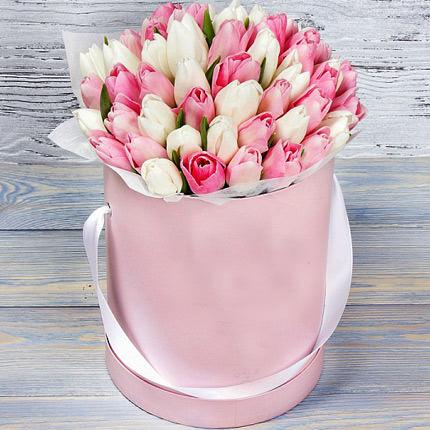 """Квіти в коробці """"Рожева хмаринка""""  - придбати в Україні"""