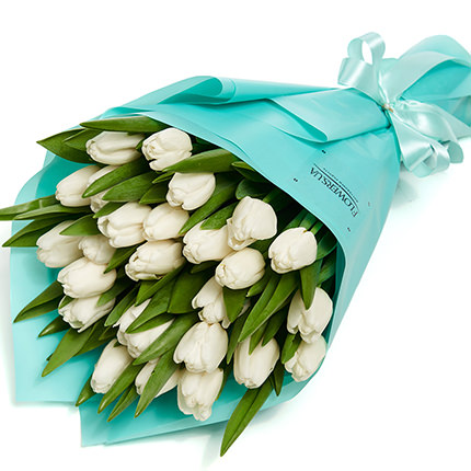 "Bouquet ""25 white tulips""  - buy in Ukraine"