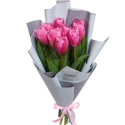 """Букет """"9 рожевих тюльпанів""""  - придбати в Україні"""