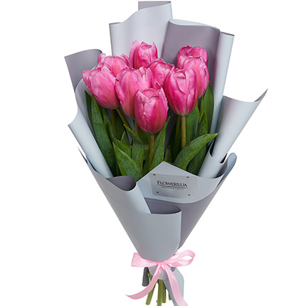 "Bouquet ""9 pink tulips""  - buy in Ukraine"