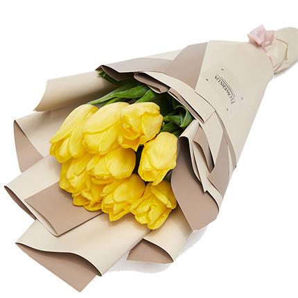 """Букет """"9 желтых тюльпанов""""  - купить в Украине"""