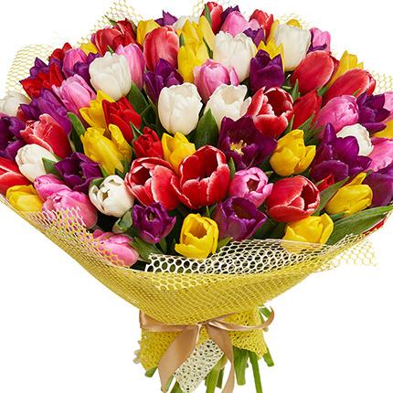 "Bouquet ""51 multicolored tulips!""  - buy in Ukraine"