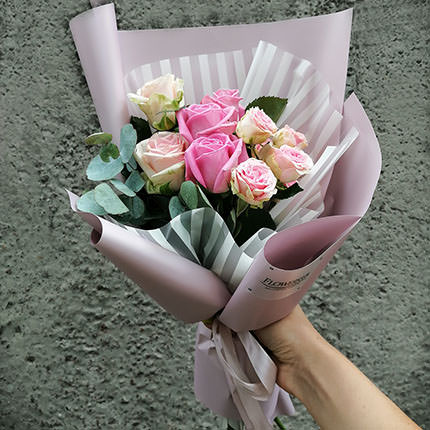 """Author's bouquet """"Compliment of roses""""  - buy in Ukraine"""