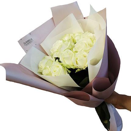 "Author's bouquet ""11 white roses""  - buy in Ukraine"