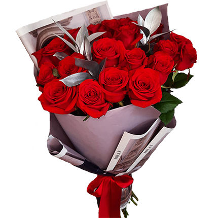 "Silver collection ""25 red roses""  - buy in Ukraine"