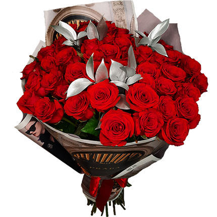 """Silver collection """"51 red roses""""  - buy in Ukraine"""