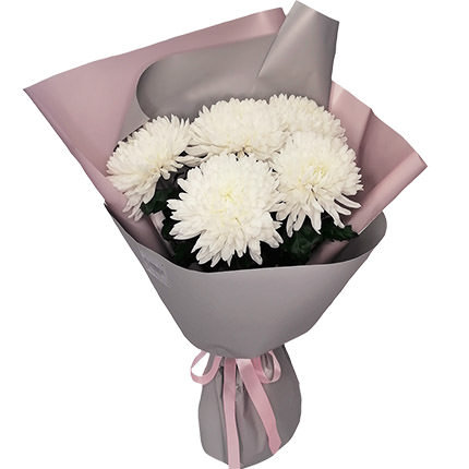 5 white chrysanthemums – from Flowers.ua