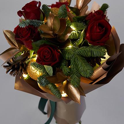 "Bouquet with garland ""New Year's magic""  - buy in Ukraine"