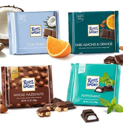 """Шоколад """"Ritter Sport"""" (в ассортименте)  - купить в Украине"""