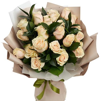 25 кремовых роз  - купить в Украине