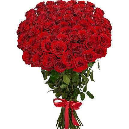 51 red roses one meter high  - buy in Ukraine