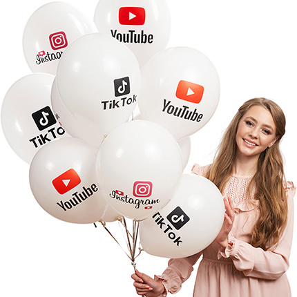 """Collection of balloons """"Best Blogger"""" - 5 balloons  - buy in Ukraine"""