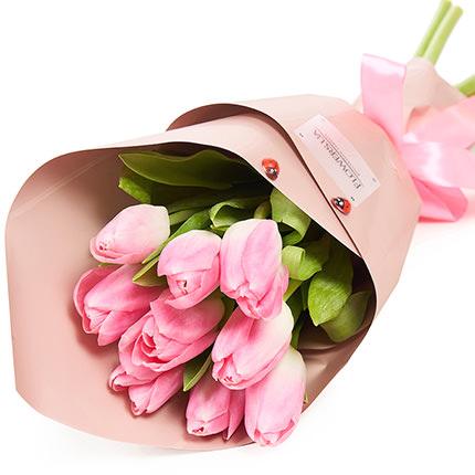 """Spring bouquet """"9 pink tulips""""  - buy in Ukraine"""