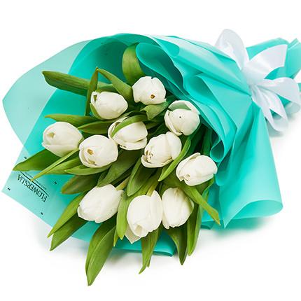"""Букет """"11 белых тюльпанов""""  - купить в Украине"""