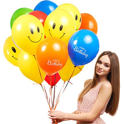 "Collection of balloons ""Happy Birthday"" - 7 balloons  - buy in Ukraine"