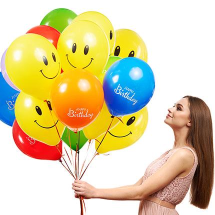 "Collection of balloons ""Happy Birthday"" - 3 balloons  - buy in Ukraine"