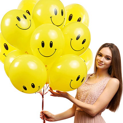"""Collection of balloons """"Smilies"""" - 5 balloons  - buy in Ukraine"""
