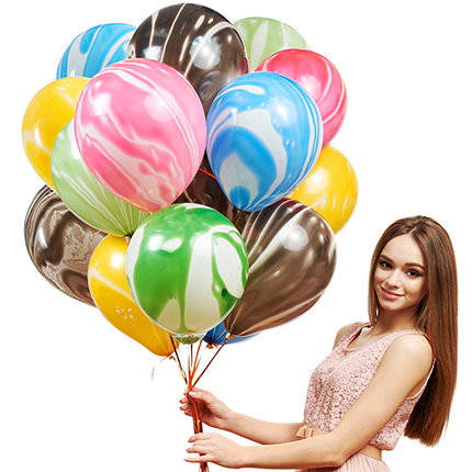 """Collection of balloons """"Multicolored mix"""" - 5 balloons  - buy in Ukraine"""