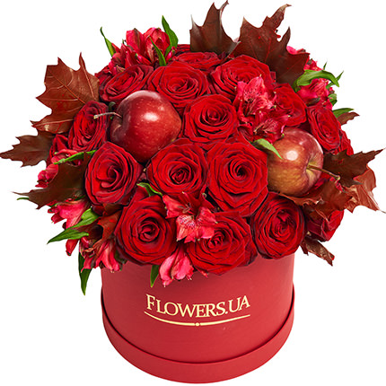"""Flowers in a box """"Flame of love""""  - buy in Ukraine"""