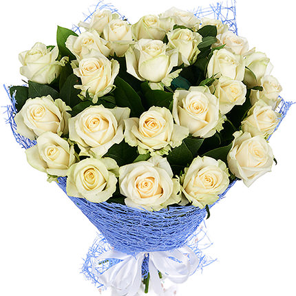 25 white roses  - buy in Ukraine