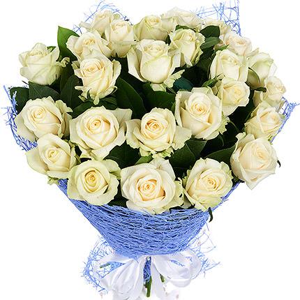 25 белых роз  - купить в Украине