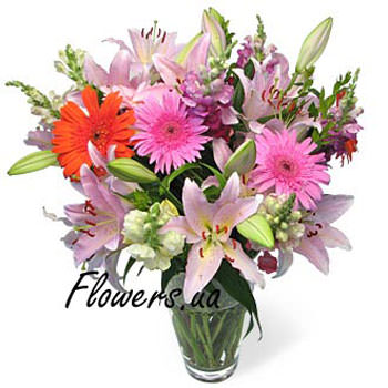 Beautiful bouquet of flowers  - buy in Ukraine