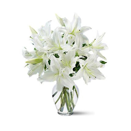 "Bouquet of lilies ""Snow White""  - buy in Ukraine"