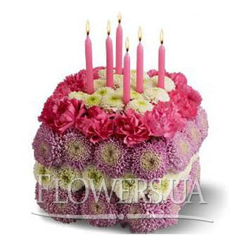 Квітковий тортик  - придбати в Україні