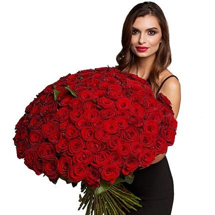 101 червона троянда  - придбати в Україні