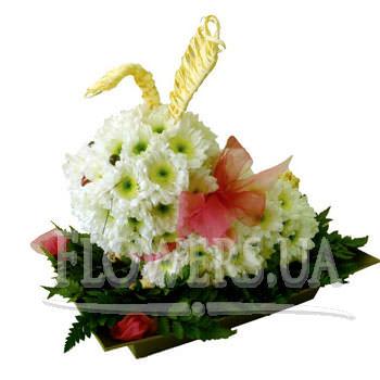 Зайка из цветов  - купить в Украине