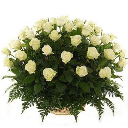 """Basket of roses """"Vanilla""""  - buy in Ukraine"""