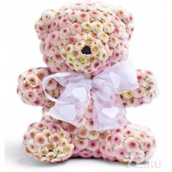 Bear with flowers  - buy in Ukraine