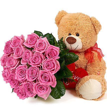 Bear with a bouquet  - buy in Ukraine