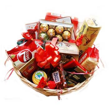 """Подарочная корзина """"Вкусный праздник""""  - купить в Украине"""