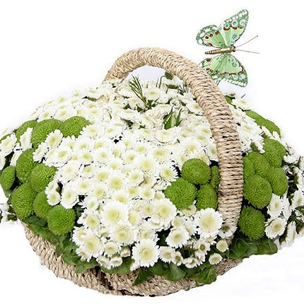 "Basket of сhrysanthemums ""Spring Meadow""  - buy in Ukraine"
