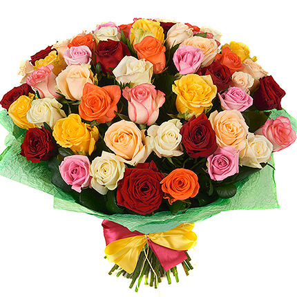 51 colored roses  - buy in Ukraine