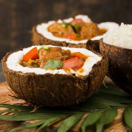 Рецепты блюд с кокосом